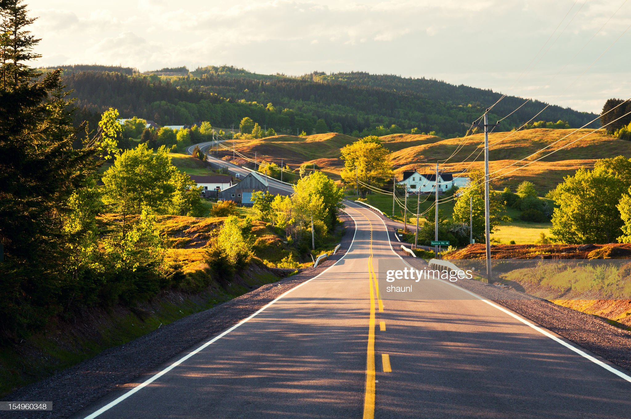 Winding Country Road : Stock Photo