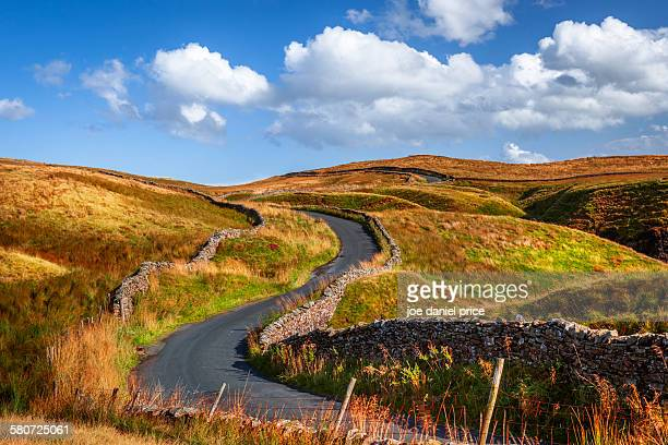 Winding country road, Settle, Yorkshire Dales, UK