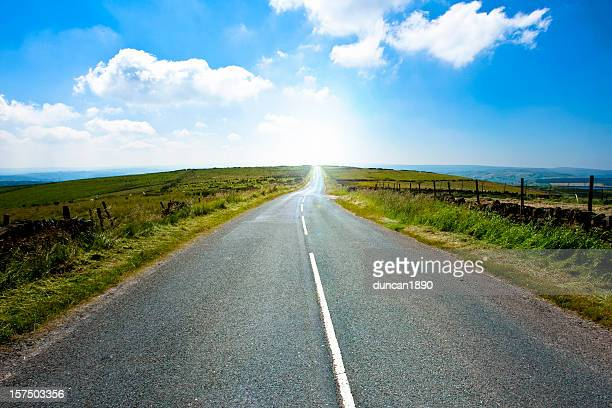 Winding Country Road Yorkshire England