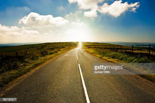 winding country road yorkshire england - country road stock photos and pictures
