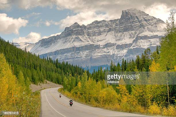 Winding highway with mountain view