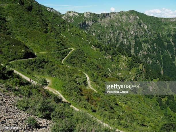 Winding Hiking Trail On Monte Tamaro