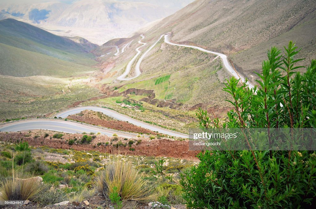 Winding mountain road, Jujuy, Argentina