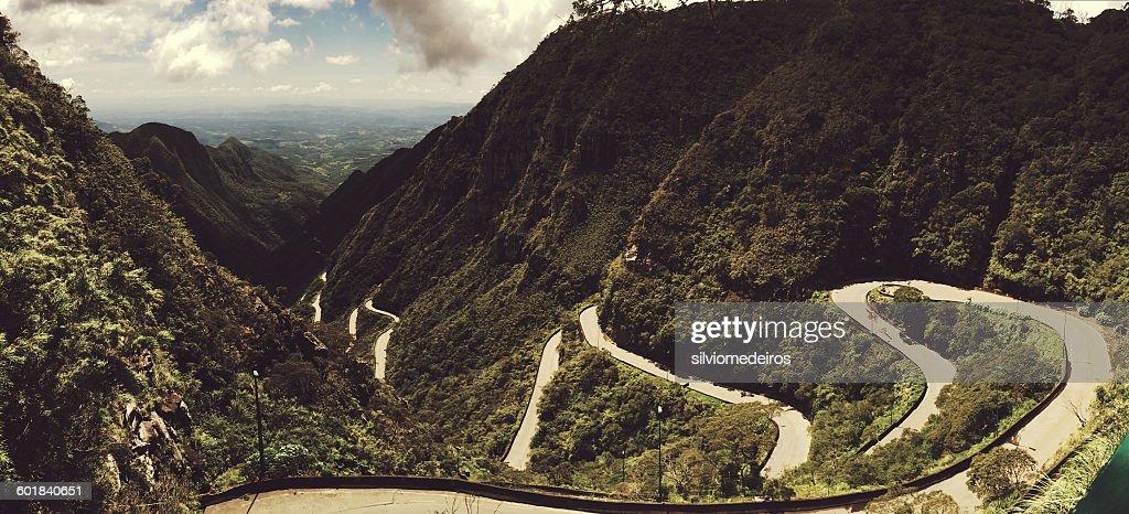 Winding mountain road, Santa Catarina, Brazil