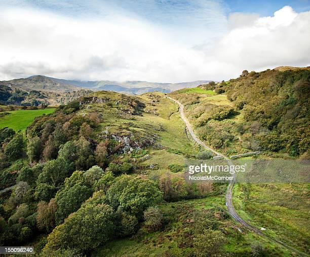 Winding Pathway going uphill