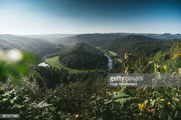 Winding river Ardennes Belgium