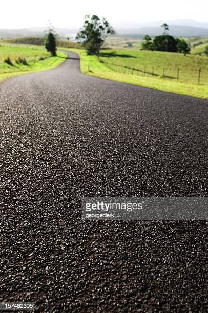 winding road ahead - atherton tableland stock pictures, royalty-free photos & images