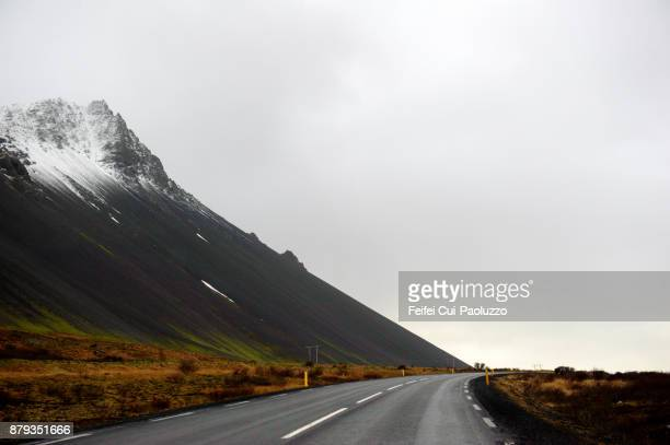 Winding road at Borgarnes, West Iceland