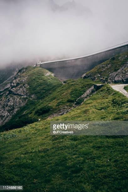 Winding road in alps, Brand, Vorarlberg, Austria