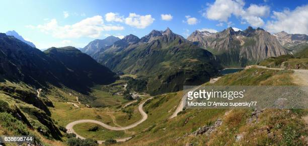 Winding road in an Alpine valley