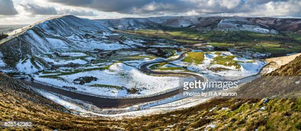 Winding road in the Vale of Edale, Peak District, England