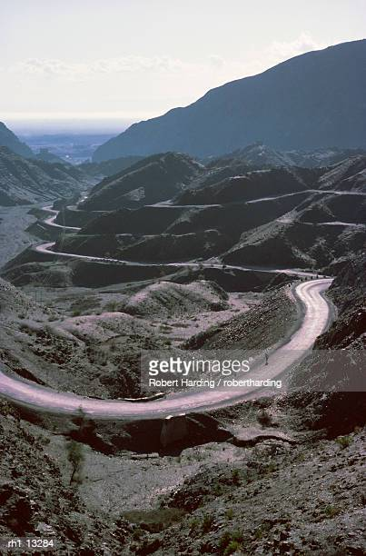"""""""winding road, khyber pass area, north west frontier province, pakistan, asia"""" - khyber pass stock pictures, royalty-free photos & images"""