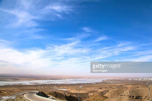 Winding Road on Gandur Mountain,Inner Mongolia,China