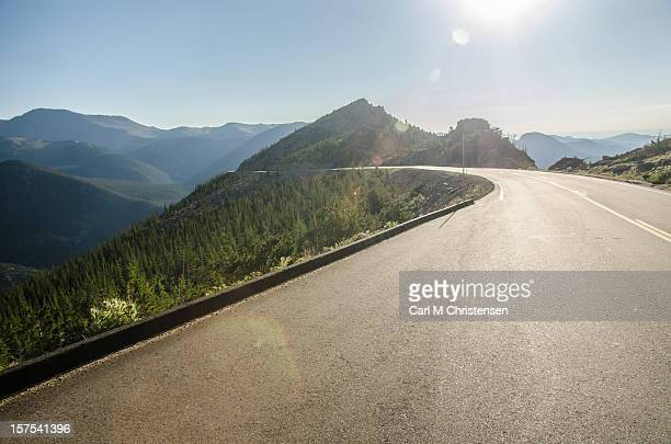 Winding Road on the Ridge of Mountains