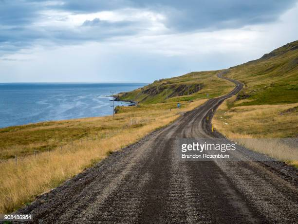 winding road on the vatnsnes peninsula in iceland - peninsula stock pictures, royalty-free photos & images