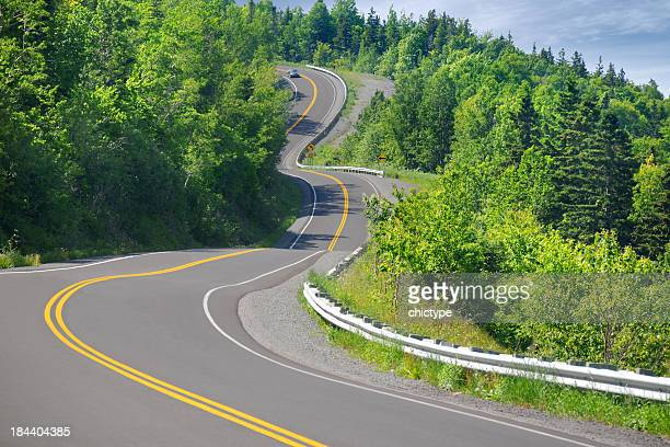 winding road - s shape stock photos and pictures