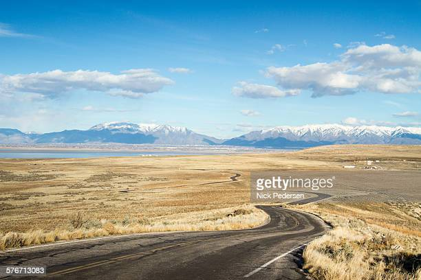 winding road - salt lake city stock pictures, royalty-free photos & images