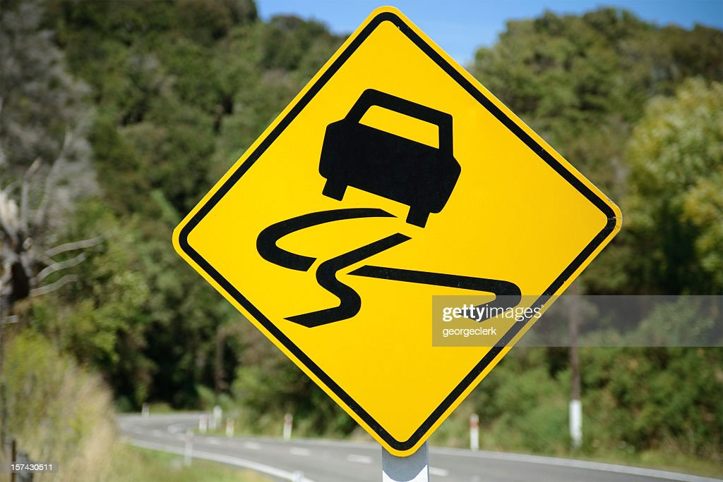 Winding road sign stock photo getty images winding road sign stock photo publicscrutiny Images
