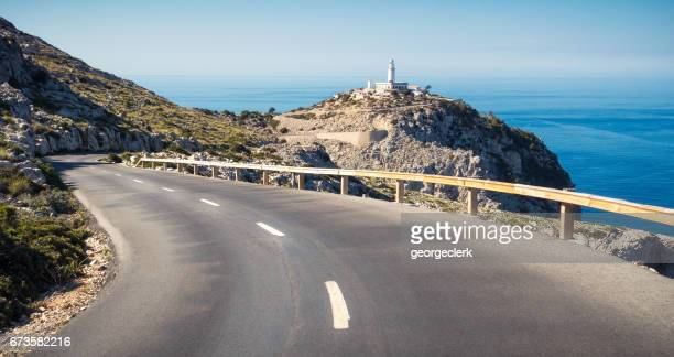 Winding road to Cap Formentor Lighthouse