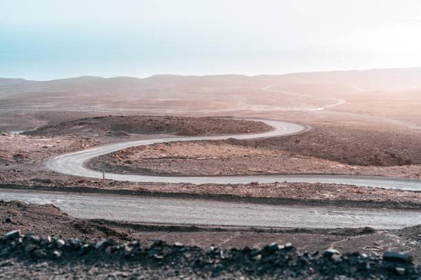 winding road to Cofete, Fuerteventura, Canary Islands