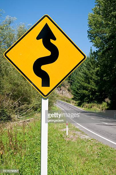Winding Road Warning Sign
