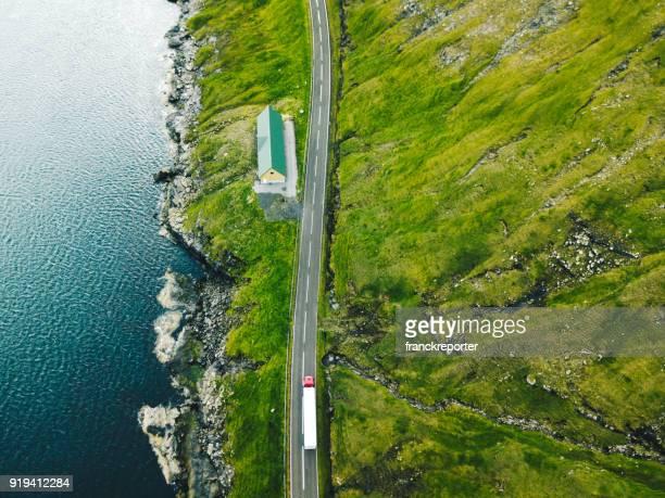 routes sinueuses aux îles Féroé
