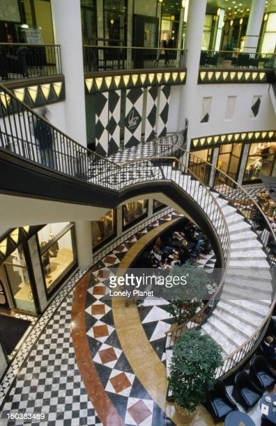 Winding stairs in Art-Nouveau decorated Quartier 206 department store, Mitte.