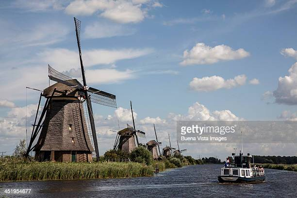 Windmill along rural river