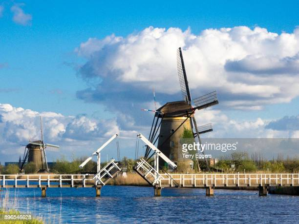 Windmill along the Canal with evening light