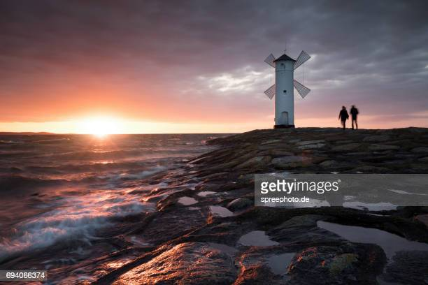 Windmill at Swinemuende, Baltic Sea, Island of Usedom, Poland