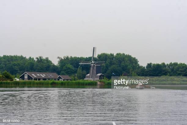 Windmill De Eenhoorn in Haarlem, the Netherlands