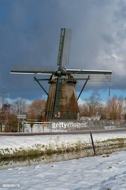 Windmill 'de Veer' in Penningsveer, the Netherlands