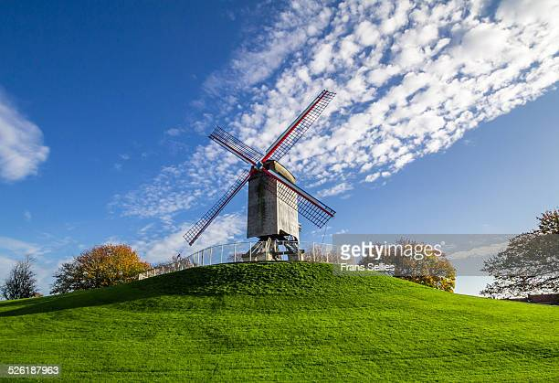 Windmill from 1770 in Bruges, Belgium
