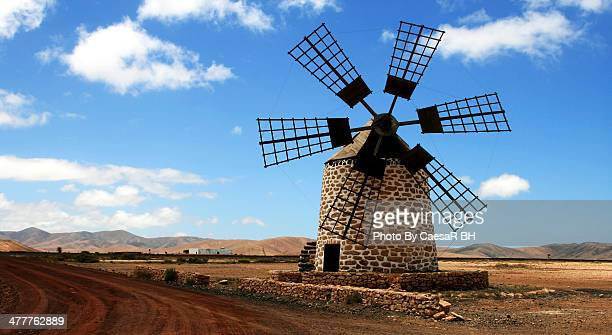 windmill, fuerteventura - old windmill stock photos and pictures