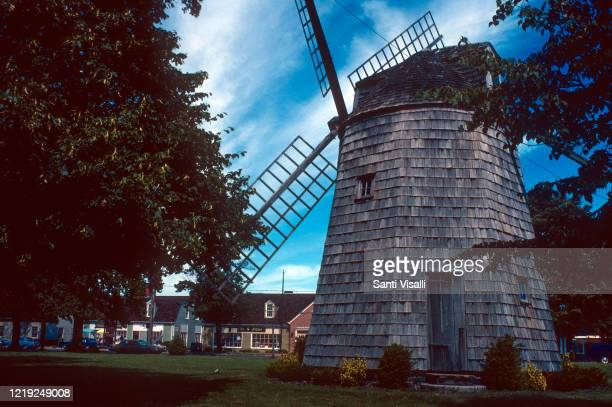 August 10: Windmill in East Hampton on August 10, 1981 in Long Island, New York.
