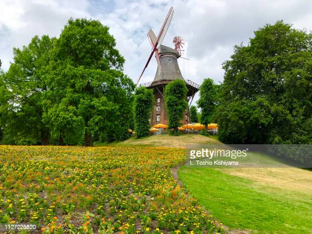 windmill in germany - bremen stock pictures, royalty-free photos & images