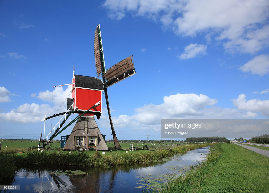 Windmill in Holland : Stock Photo