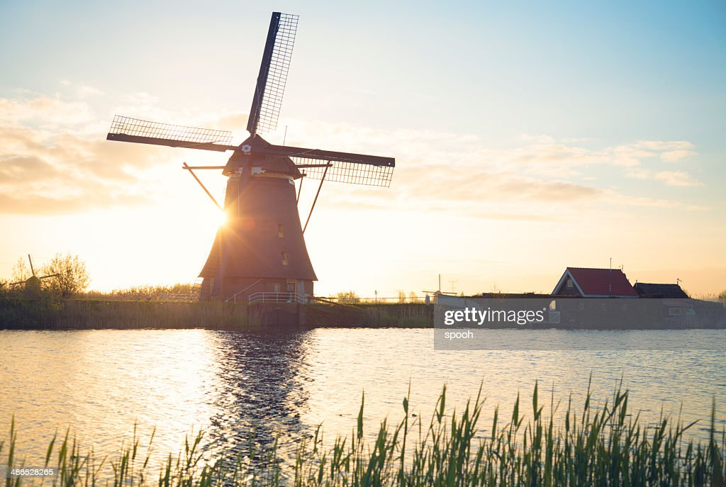 Windmill in Netherlands : Stock Photo