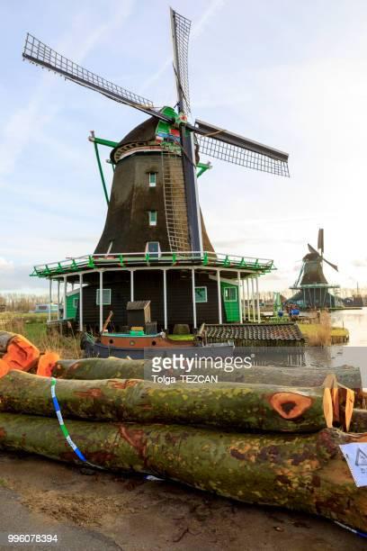 Windmill in Zaanse Schans, Netherlands