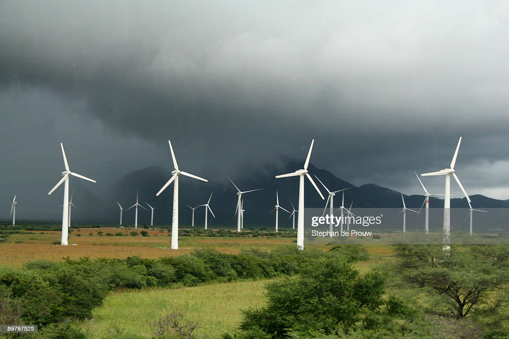 Windmill Park In Mexico Stock Photo Getty Images