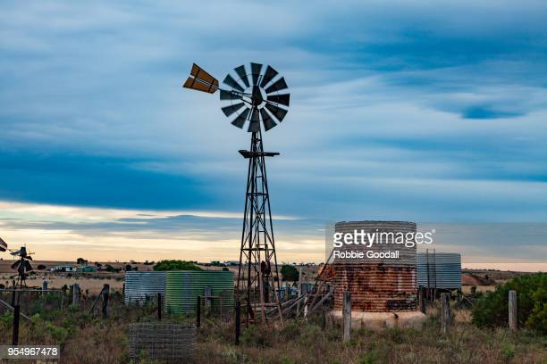 windmill - penong, south australia - traditional windmill stock photos and pictures