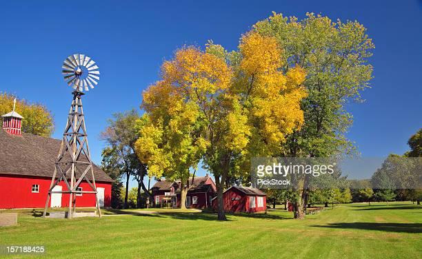 Windmill Set in Old Farm