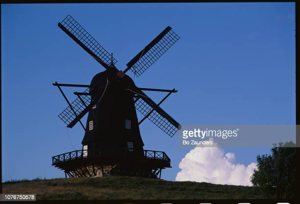 Windmill Under a Blue Sky
