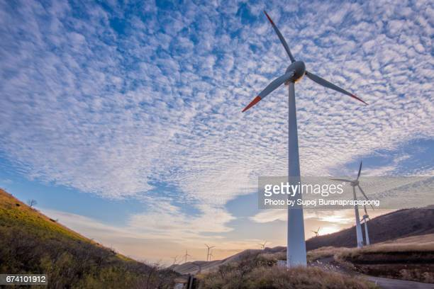 Windmill wind electirc power generation.Natural power that renewable energy