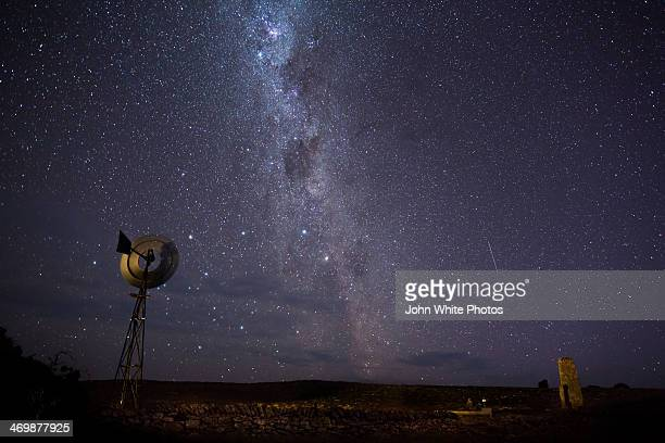 Windmill with The Milky Way.