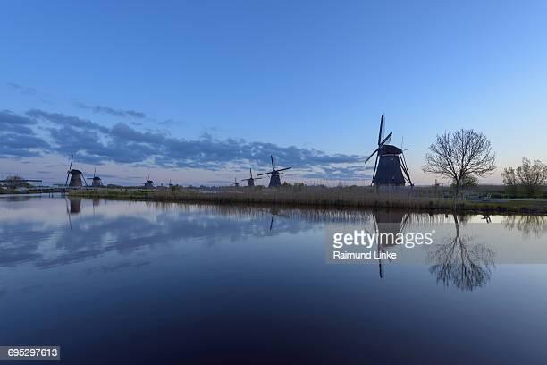 Windmills at dawn, Kinderdijk