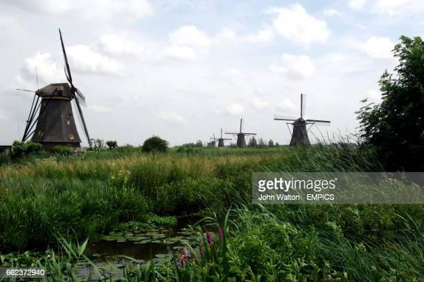 Windmills at the World Heritage Site in Kinderdijk