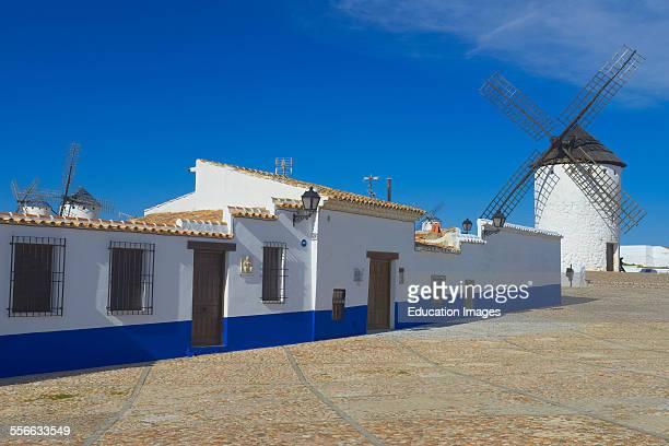 Windmills Campo de Criptana Route of Don Qiuijote Ciudad Real province CastillaLa Mancha Spain