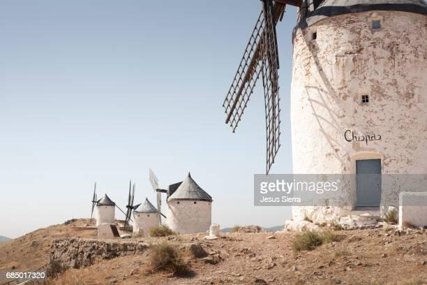 Windmills, Consuegra, Toledo Province, La Mancha, Spain