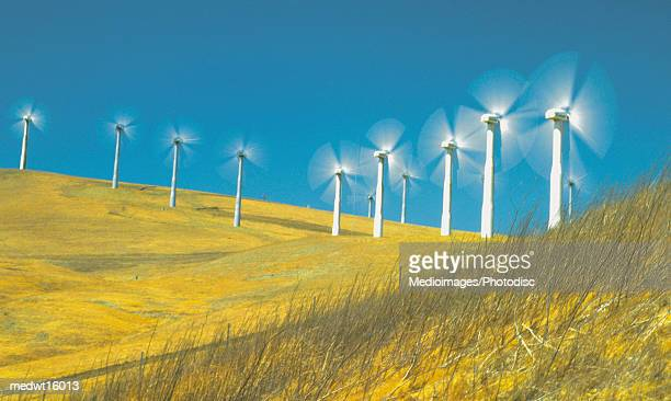 Windmills in Livermore, California, USA